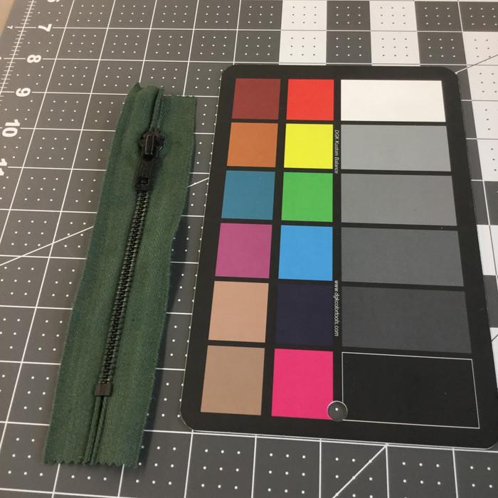 "5.5"" Metal Zipper   Sage Green    YKK Brand   Military   Bags / Pockets"