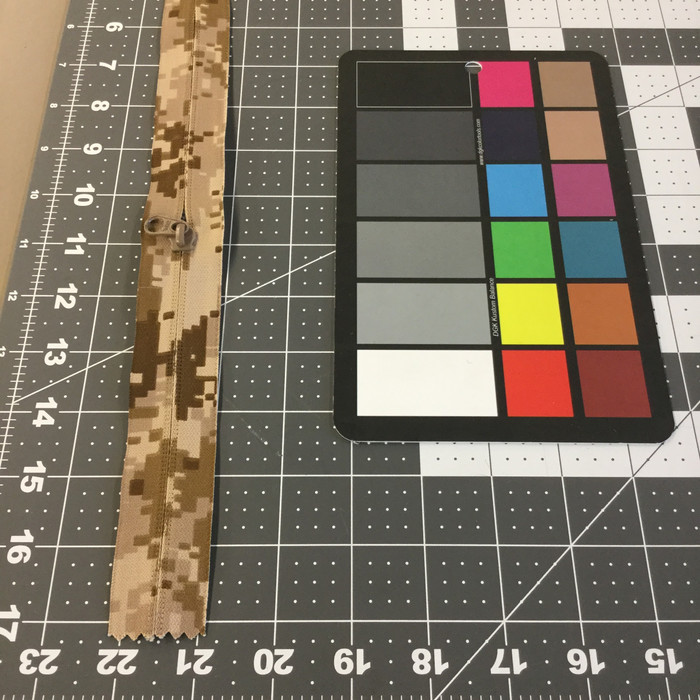"10.5"" Coil Zipper | Desert Tan Digital Camouflage | Military Repair | Bags / Pockets."