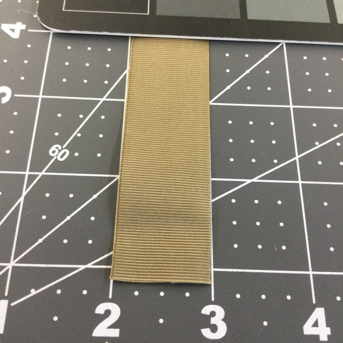 "1"" Tan Nylon Grosgrain Ribbon / Webbing 