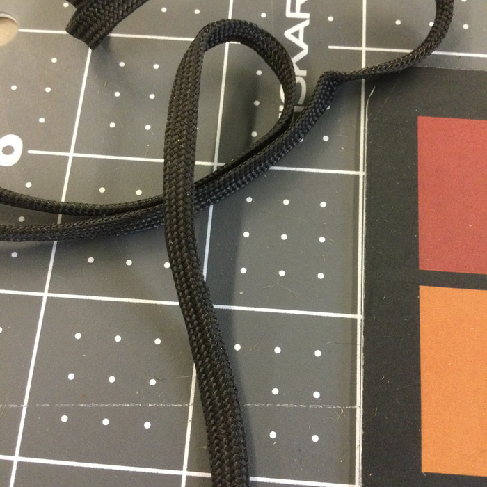 Black Flat Braided Lacing Cord | Milspec | Shoe lacing | By the Yard