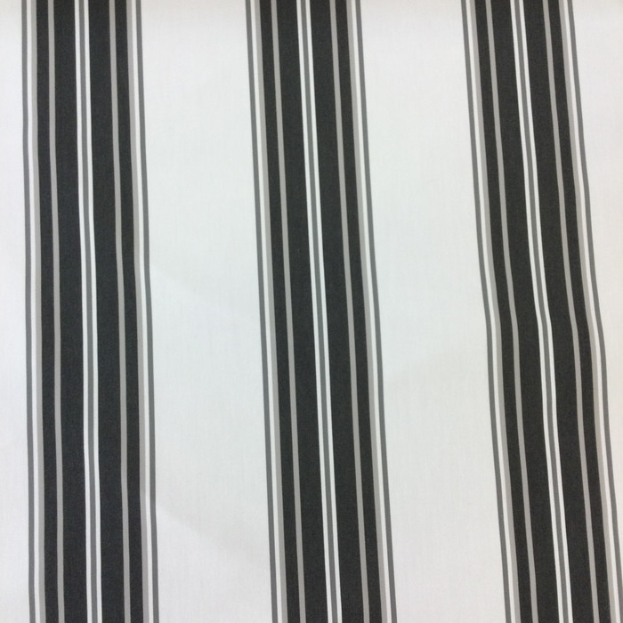 "4.3 Yard Piece of Indoor / Outdoor Upholstery Fabric | Vintage Stripes Black / Gray | 54"" Wide"