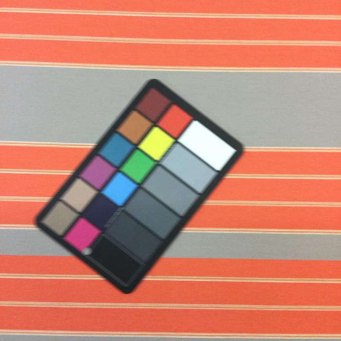 "1.8 Yard Piece of Indoor / Outdoor Upholstery Fabric   Orange / Gray Striped   54"" Wide"