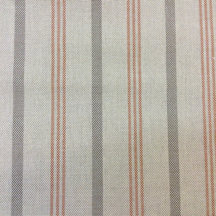 "4.3 Yard Piece of Indoor / Outdoor Upholstery Fabric | Vintage Stripes Beige / Orange / Brown | 54"" Wide"