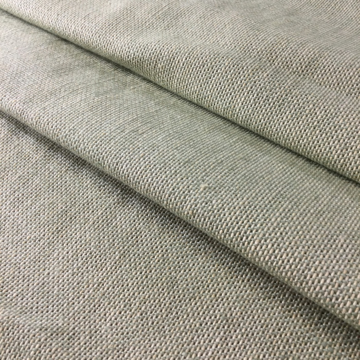 "2.3 Yard Piece of Upholstery Fabric | Pale Green Basketweave | 54"" Wide"