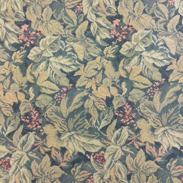"6.3 Yard Piece Upholstery Fabric | Green Foliage | 54"" Wide"