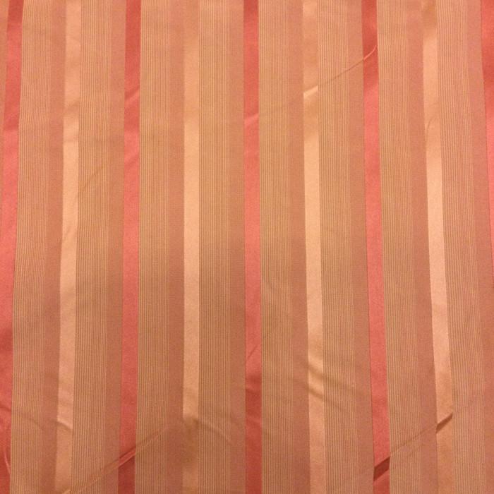 "6.8 Yard Piece of Drapery Fabric | Vintage Orange Stripes | 54"" Wide"