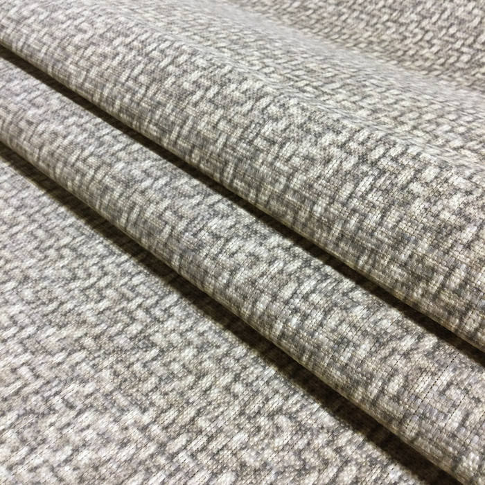"6.55 Yard Piece of Home Decor Fabric | Printed Weave in Tan / Taupe | Upholstery / Drapery | 54"" Wide"