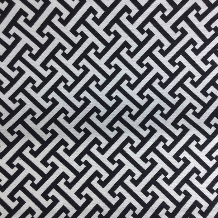 "2.8 Yard Piece of Home Decor Fabric | Black and White Lattice | Upholstery / Drapery | 54"" Wide"