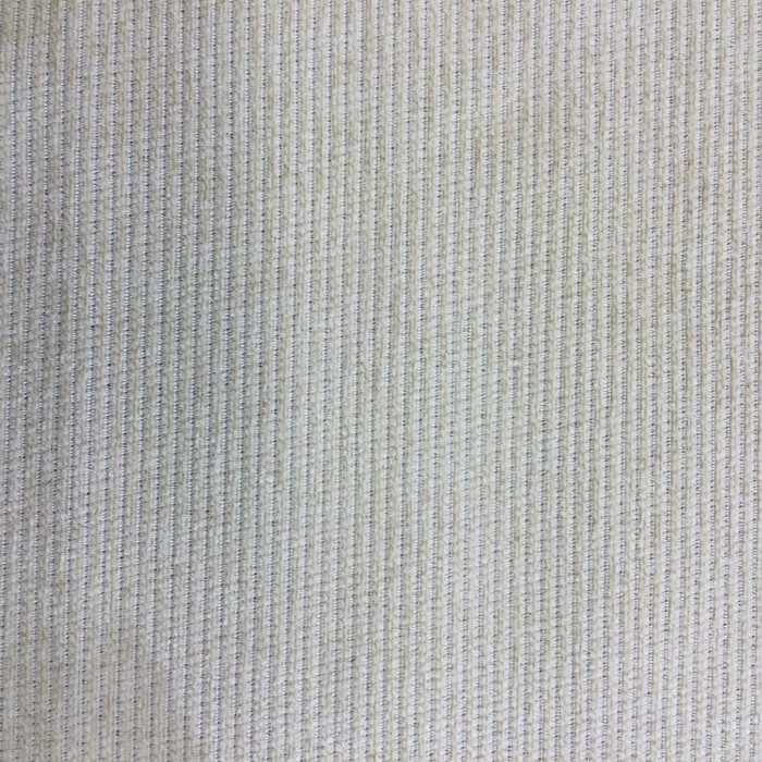 "1.47 Yard Piece of Upholstery Fabric | Raised Chenille Stripes Beige | 54"" Wide"