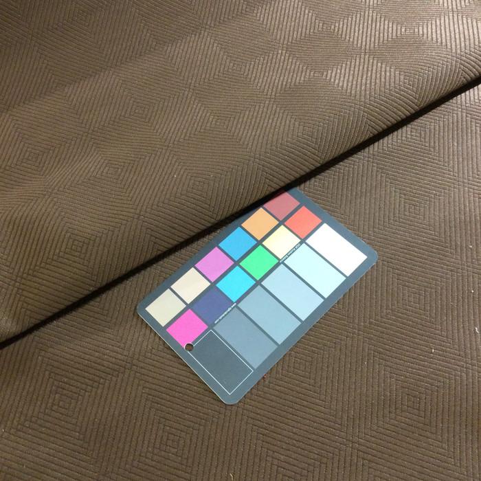 "2.8 Yard Piece of Upholstery Fabric | Dark Brown Subtle Diamond Grid | 54"" Wide"