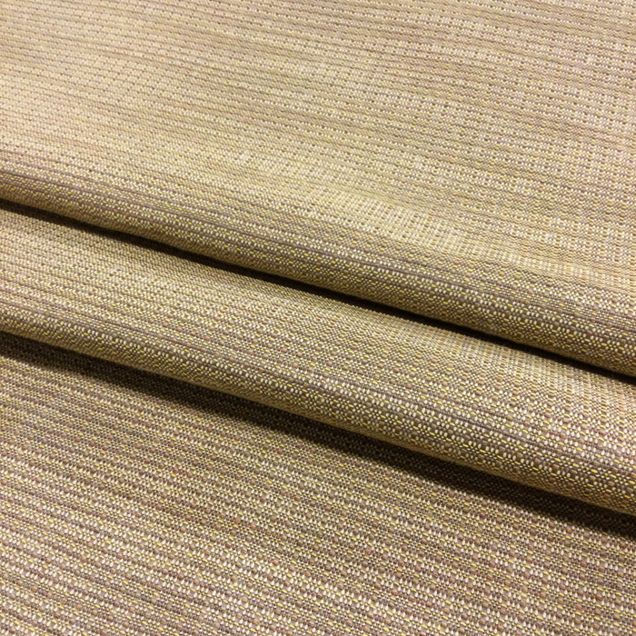 """7.3 Yard Piece of Drapery Fabric   Gold and Brown Textured Weave   54"""" Wide"""