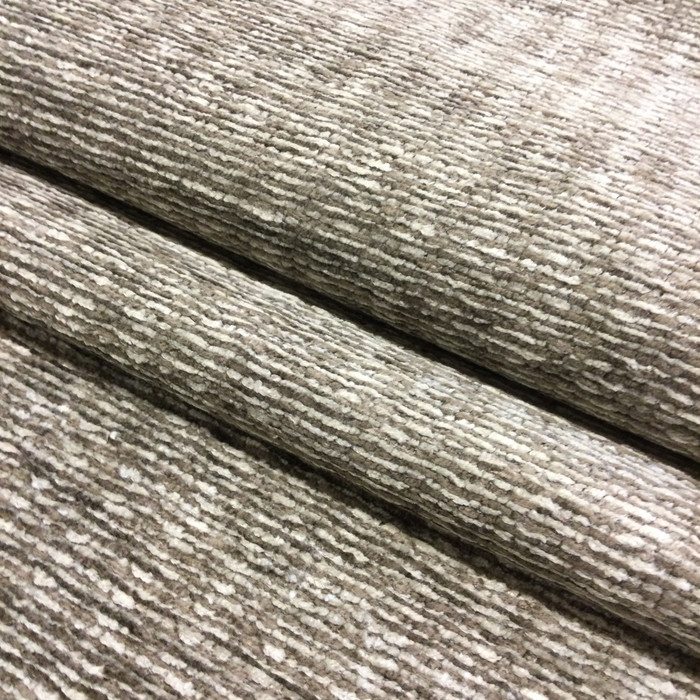 "2.8 Yard Piece of Upholstery Fabric | Taupe / Off White Chenille | 54"" Wide"