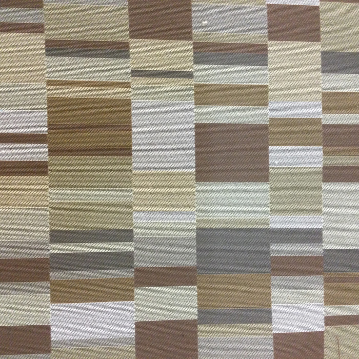 "Contemporary Geometric Browns / Taupes | Upholstery Fabric | 54"" Wide 