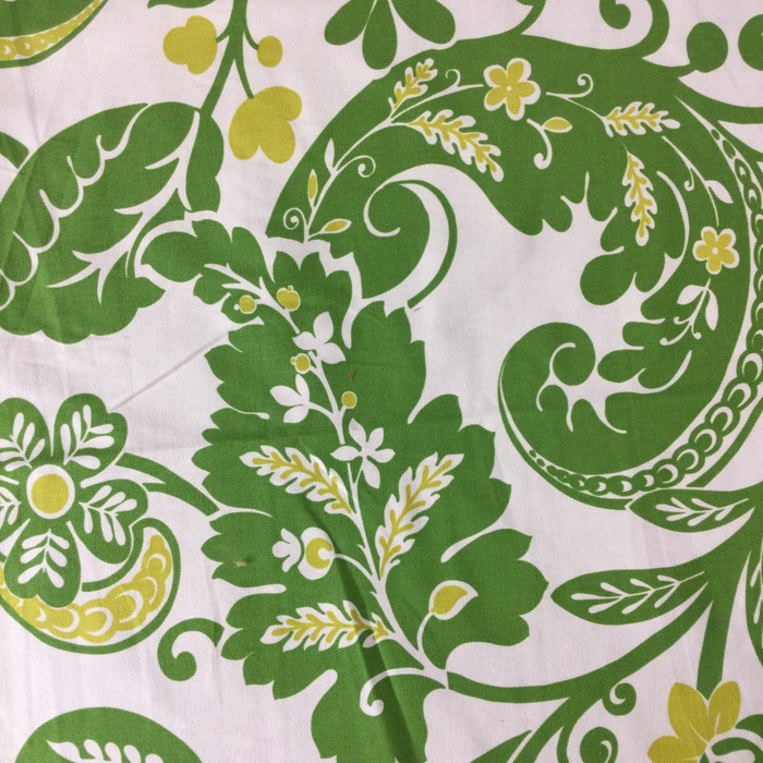"Alexandria Scroll Green / Off White  | Home Decor Fabric | Upholstery / Drapery | 54"" Wide 