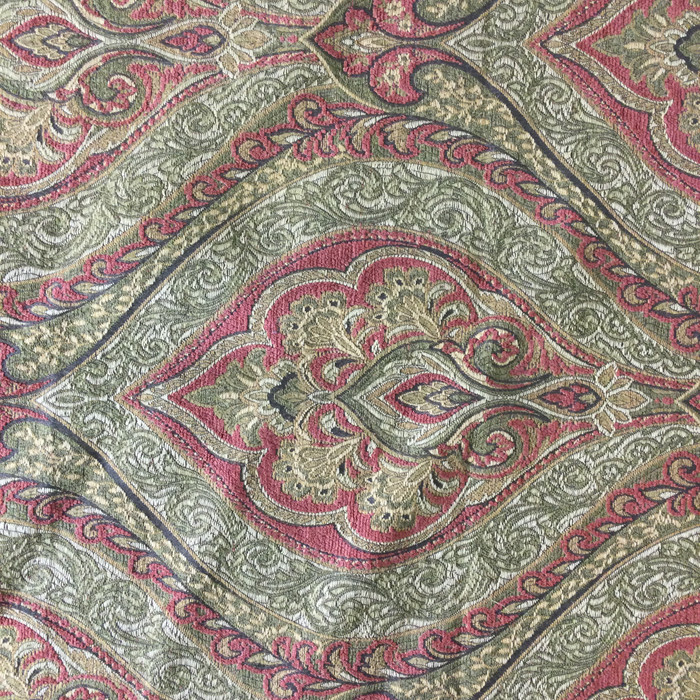 """Paisley Ogee Red / Green  