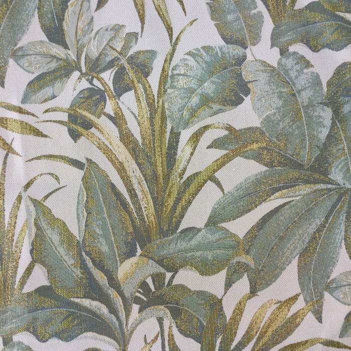 """Leaf Fronds in Green / Beige 