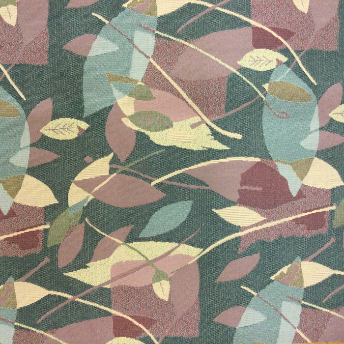"Contemporary Abstract Leave Green / Brown | Upholstery Fabric | 54"" Wide 