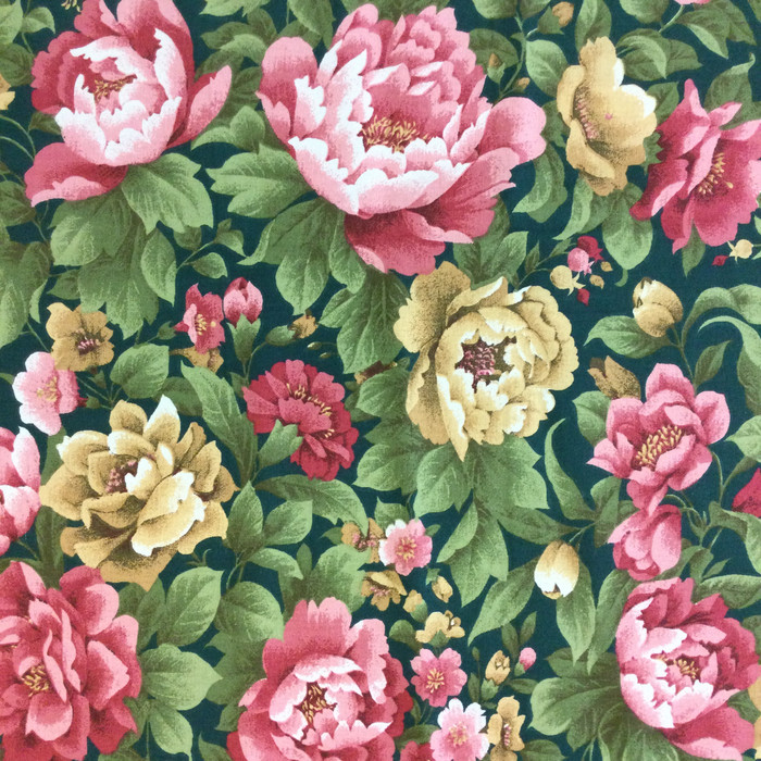 """Floral Green / Pink / Peach 