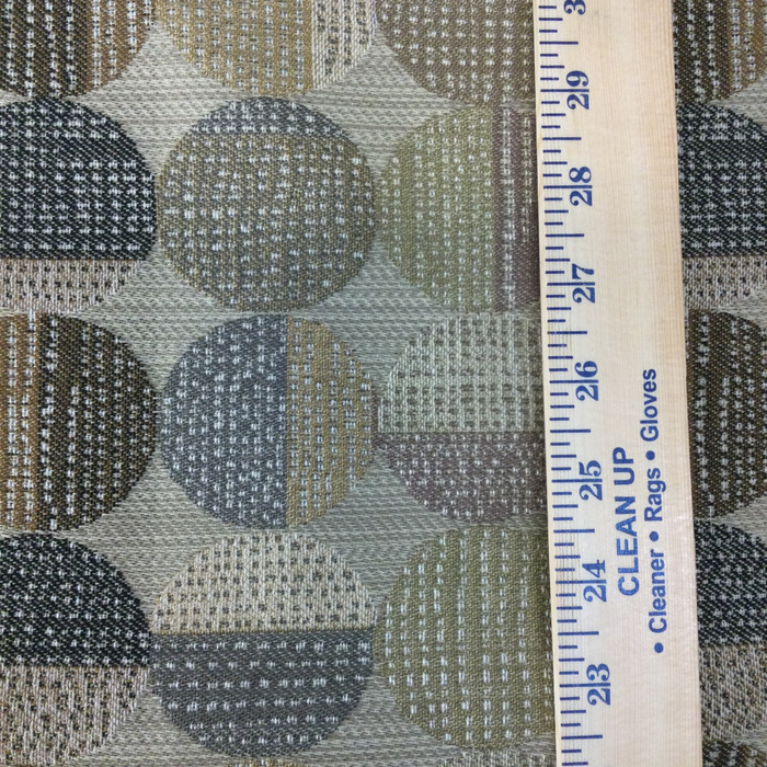 """Contemporary Circles Brown / Black / Gray   Upholstery Fabric   54"""" Wide   By the Yard"""