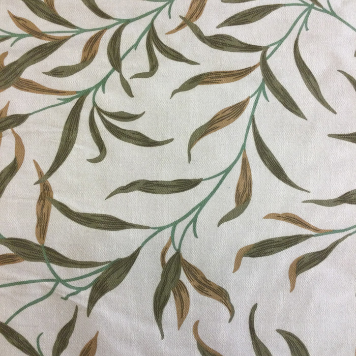 "Foliage Green / Beige / Tan | Home Decor Fabric | Upholstery / Drapery | 54"" Wide 