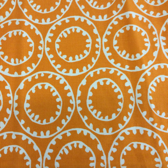 """Orange and White Decorative Circles 