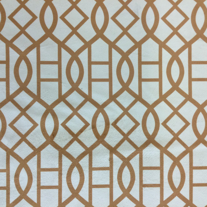 """Velvet Lattice Brown / Off White   Upholstery Fabric   54"""" Wide   By the Yard"""