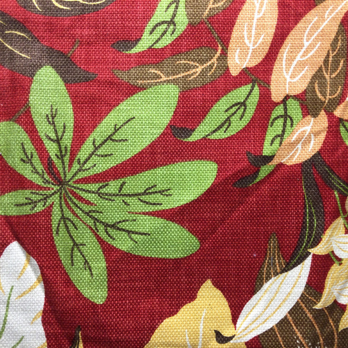 """Large Scale Leaves Red / Green / Brown 