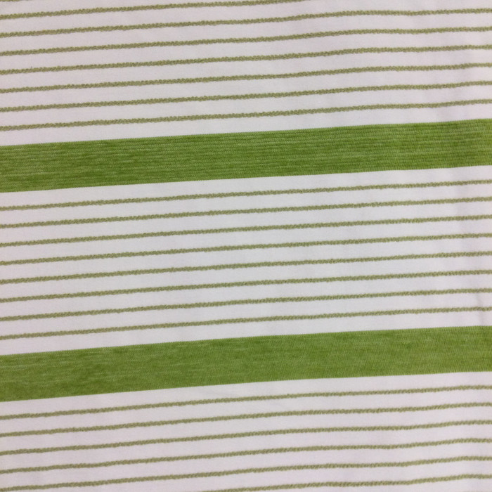 """Citron Green and White Stripes 