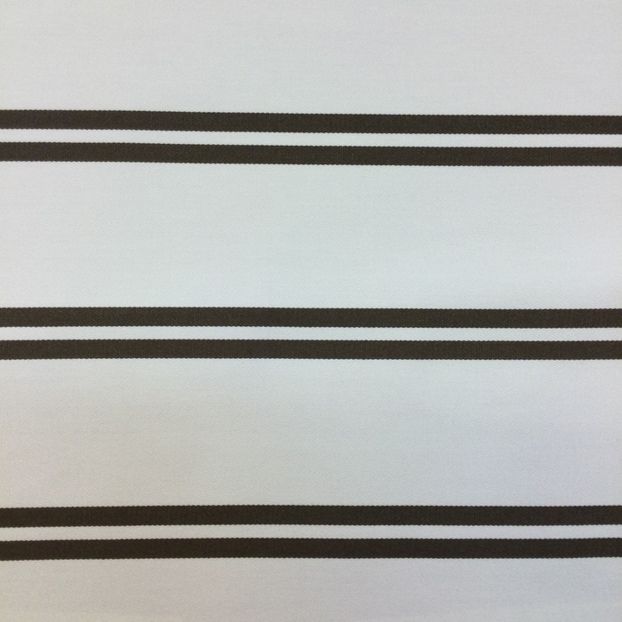 "Brown and Off White Stripes | Racing Stripe in Earth by BELLA-DURA | Indoor / Outdoor Fabric | WATER RESISTANT | 54"" Wide 
