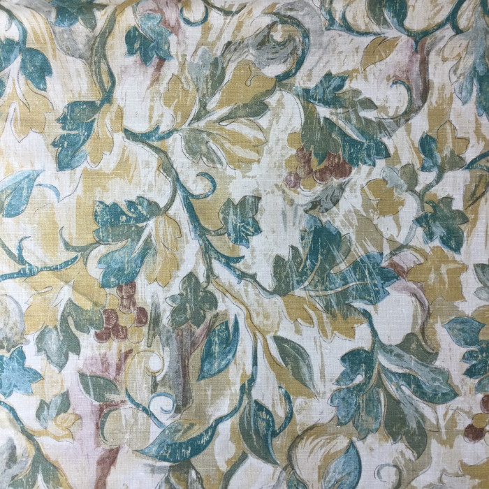 "3.3 Yard Piece of Home Decor Fabric | Ivy Trail Green / Tan | Upholstery / Drapery | 54"" Wide"