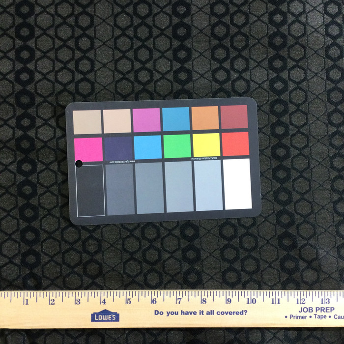 "2.55 Yard Piece of Upholstery Fabric | Black Geometric | 54"" Wide"