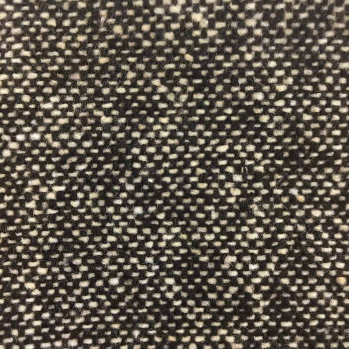 2.5 Yard Piece of Brown and White Tweed Weave Wool Fabric | |70/30 | 20oz