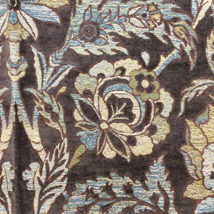"Camelot Bluestone | Blue / Brown | Upholstery Fabric | Krelan Fabrics | 54"" Wide | By the Yard"