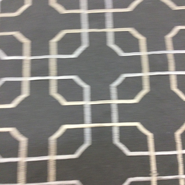 """Embroidered Linked Geometric 