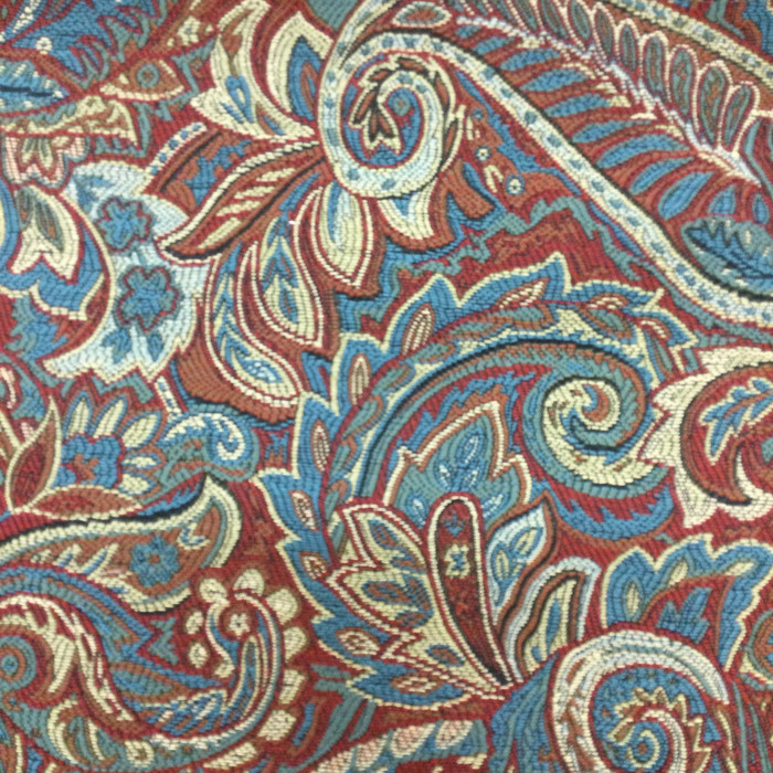 """Paisley Red / Blue / Beige  