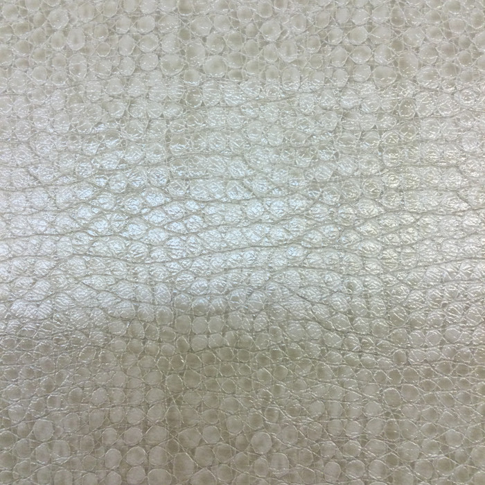 "Beige Reptile Faux Leather | Outback Linen by Regal Fabrics | Vinyl Upholstery Fabric | 54"" Wide 