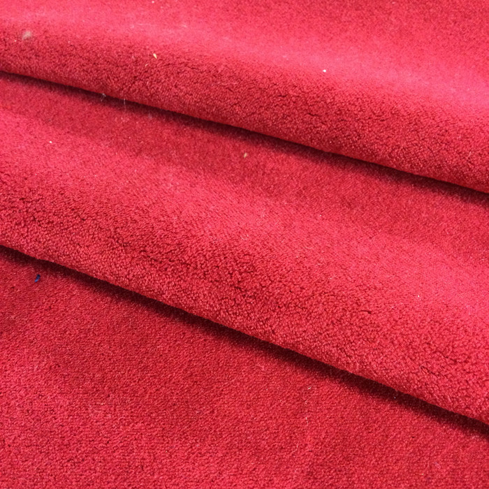 "Bright Cherry Red Velvet | Upholstery Fabric | 54"" Wide 