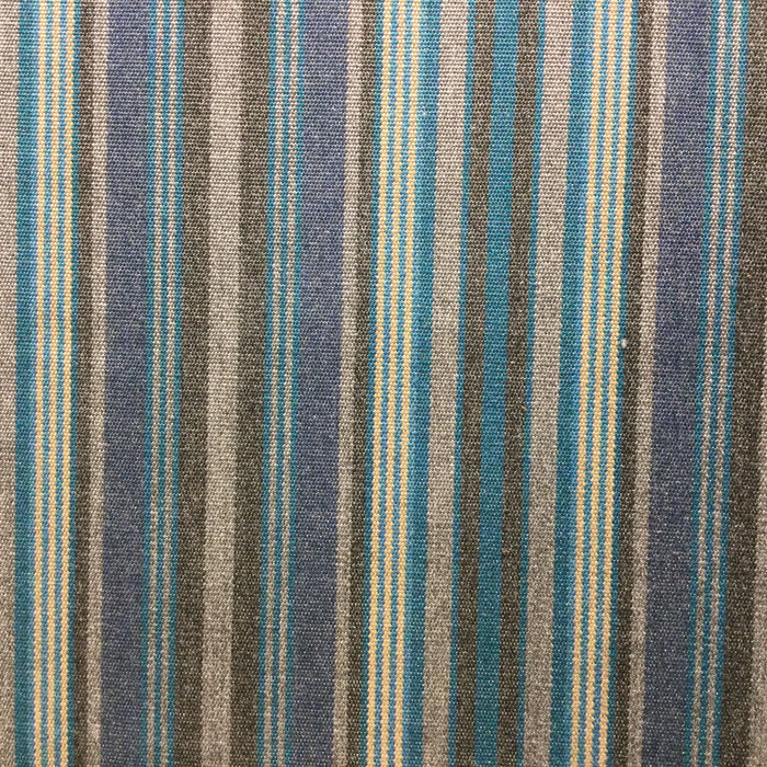 Blue / Gray Thin Stripes | Indoor / Outdoor Fabric | Upholstery / Drapery | 54 Wide | By the Yard