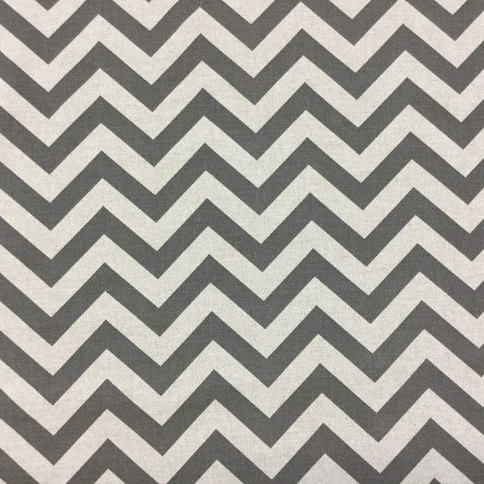2.5 Yard Piece of Classic Gray Chevron Upholstery Fabric By The Yard | Durable and Timeless