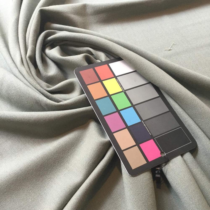 2.5 Yard Piece of Muted Green Fabric | Micro Herringbone Apparel Weight Wool | 15oz | BTY | 54 W