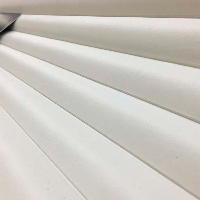 0.875 Yard Piece of Seaquest Roll N Pleat | Sea White | PLEATED MARINE VINYL  SUN + SALT PROOF |
