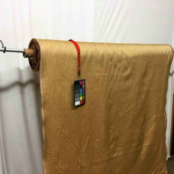 4 Yard Piece of Metallic Gold Herringbone Upholstery Fabric | Vegas Gold |