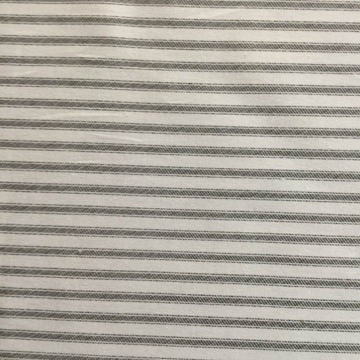 """1.8 Yard Piece of Ticking Stripes Black and White   Home Decor Fabric   Premier Prints   45"""" Wide"""