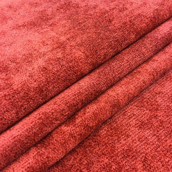 "Aiken in color Sienna Red | Chenille Upholstery Fabric | 54"" Wide 