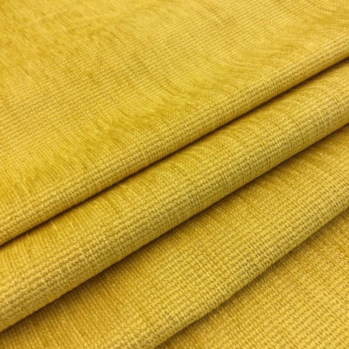 "Dupre in color Canary Yellow | Low-Pile Chenille Upholstery Fabric | 54"" Wide 