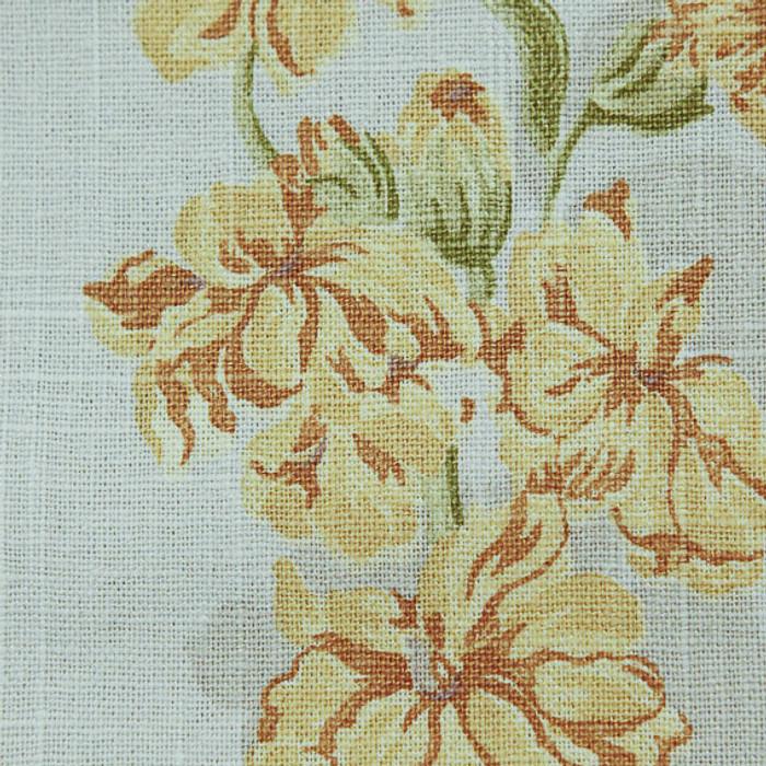 1.75 Yard Piece of Botanical Pastels On Cotton Slub -- Drapery Fabric -- By P Kaufmann