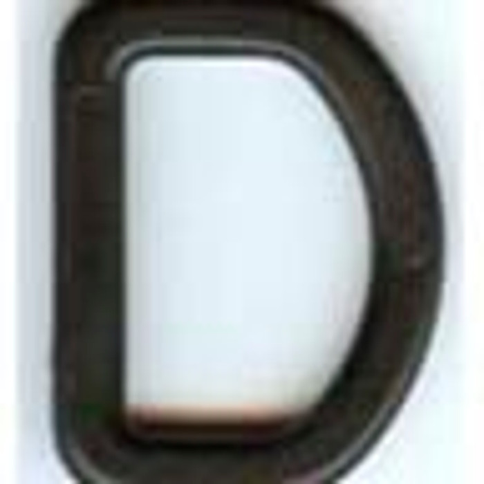 Image for D Ring | Plastic | Black | 1.5 Inch At Fabric Warehouse