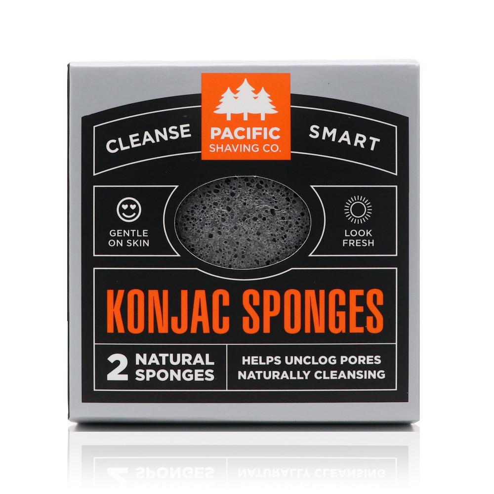 Konjac Sponge 2pk, by Pacific Shaving Company