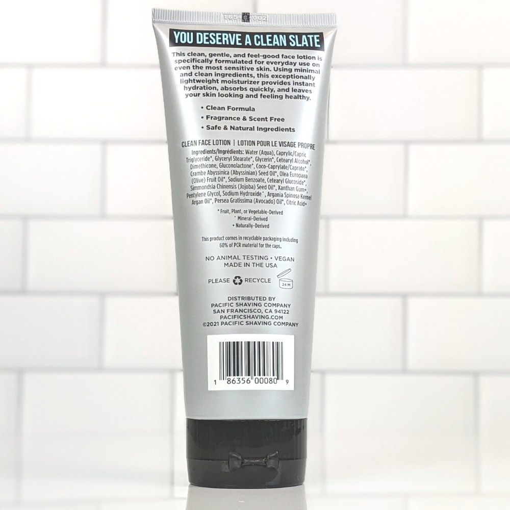 Clean (Unscented) Face Lotion (7oz)