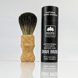 Limited Edition, Antimicrobial, Synthetic Badger Hair Shaving Brush - with Cork Handle